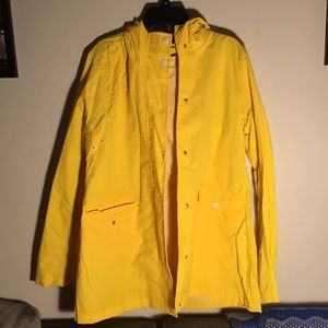 Lightweight Yellow Rain Jacket w/ Hood